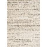Gracie Oaks Lapeer Geometric Wool Cream/Area Rug Wool in Brown, Size 134.0 H x 94.0 W x 0.5 D in | Wayfair GRKS1081 38377217