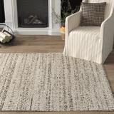 Gracie Oaks Lapeer Geometric Wool Cream/Area Rug Wool in Brown, Size 91.0 H x 63.0 W x 0.5 D in | Wayfair GRKS1081 38377216