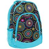 Blue Vibrant Medallion Reinforced and Water Resistant Padded Laptop School Backpack