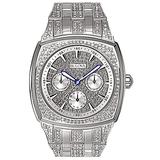 Bulova Crystal Multi-Function Mens Watch, Stainless Steel , Silver-Tone (Model: 96C002)