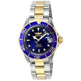 Invicta Men's Pro Diver 40mm Steel and Gold Tone Stainless Steel Automatic Watch, Two Tone/Blue (Model: 8928)