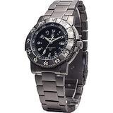 Smith & Wesson Men's Executive Watch, Tritium H3, 20ATM, Titanium case, bezel and strap, 43mm