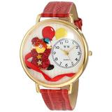 Whimsical Watches Unisex G0210003 Happy Red Clown Red Leather Watch