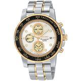 Seiko Men's SNAB62 Alarm Chronograph Two-Tone Watch