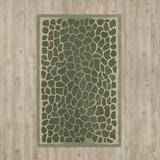 Martha Stewart Rugs Geometric Handmade Tufted Grassland Green Area Rug Viscose/Wool in Brown/Green, Size 72.0 H x 48.0 W x 0.63 D in | Wayfair