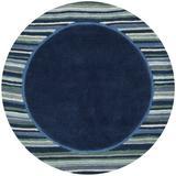 Martha Stewart Rugs Handmade Tufted Wrought Iron Area Rug Viscose/Wool in Black/Brown, Size 96.0 H x 96.0 W x 0.63 D in | Wayfair MSR4715C-8R