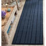 Martha Stewart Rugs Striped Handmade Tufted Wool Wrought Iron Rug Wool in Black/Brown, Size 96.0 H x 96.0 W x 0.63 D in | Wayfair MSR4619D-8R