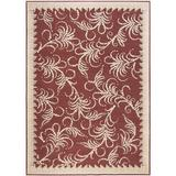 Martha Stewart Rugs Fountain Swirl Floral Tufted Red/Ivory Area Rug Viscose in Brown/White, Size 134.0 H x 95.0 W x 0.25 D in   Wayfair MSR4449C-8