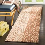 Martha Stewart Rugs Animal Print Hand-Woven Wool Brown/Beige Rug Wool in Brown/White, Size 27.0 W x 0.63 D in | Wayfair MSR4534A-28