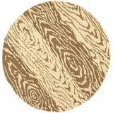 Martha Stewart Rugs Animal Print Hand-Woven Wool Brown/Beige Rug Wool in Brown/White, Size 96.0 W x 0.63 D in | Wayfair MSR4534A-8R