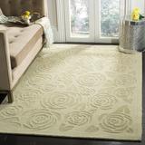 Martha Stewart Rugs Floral Handmade Tufted Wool Saguaro Area Rug Wool in Brown/Gray, Size 96.0 H x 96.0 W x 0.63 D in | Wayfair MSR4618D-8R