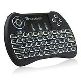 Beastron 2.4G Mini Wireless Keyboard with Touchpad&QWERTY Keyboard, Backlit Portable Handheld Keyboard Wireless with Remote for Laptop,PC,Google Android TV,Xbox,PS3/4 .Black