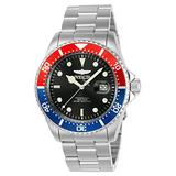 Invicta Mens Pro Diver 43mm Stainless Steel Quartz Watch, Silver (Model: 23384)