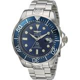 Invicta Men's 'Pro Diver' Automatic Stainless Steel Diving Watch, Silver-Toned (16036)