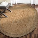 Rosecliff Heights Millwood Hand Braided Jute Natural Area Rug Jute & Sisal in White, Size 108.0 H x 84.0 W x 0.4 D in   Wayfair ROHE1362 38730278