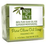 Naked Pure Olive Oil Bar Soap Value Pack, 3 pc, Kiss My Face