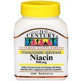Niacin 500 mg, Prolonged Release, 100 Tablets, 21st Century HealthCare