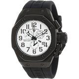 Swiss Legend 10542-BB-02 Men's Trimix Diver Chronograph Watch White w/Black Case & Black Silicone Strap