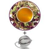 Nargis Ayurvedic Loose Leaf Cooling Tea/100% Natural Herbal Anti Oxidant Soothing Refresh Pitta Tea w/ Rose, Cinnamon, Cardamom, Ginger & Fennel/Indian Organic Flavor Relax Tea, 17.63 oz