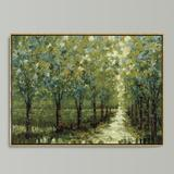 "Spring Walkway Framed Canvas 28"" x 40"" - Ballard Designs"