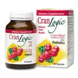 Cran-Logic, Cranberry Extract Plus Probiotics 60 Capsules, Wakunaga Kyolic