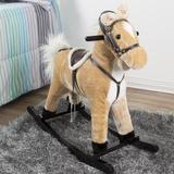 Happy Trails Wooden Rocking Horse in Brown, Size 28.0 H x 11.0 W x 29.0 D in   Wayfair M400002