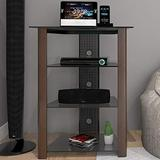 Ryan Rove Ashton Multi-Level Media Component Stand - Living Room Furniture, Home Theater System, Entertainment Center, Console Shelf and Storage Rack - Cable Management, Glass Shelves - Wood Espresso
