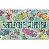 Toland Home Garden Welcome Summer Sandals 18 x 30 Inch Decorative Colorful Floor Mat Flip Flop Doormat