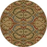 KAS Rugs 5466 Lifestyles Firenze Round Area Rug, 7-Feet 10-Inch, Gold