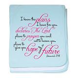 CafePress Jeremiah 29:11 Design Baby Blanket, Super Soft Newborn Swaddle