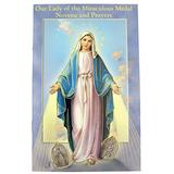 Fratelli Bonella Milano Design Gold Stamped Illustrated Novena Book of Prayers and Devotions of Our Lady of The Miraculous Medal, Pack of 10