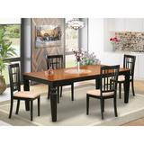Darby Home Co Beesley 5 Piece Butterfly Leaf Solid Wood Dining Set Wood/Upholstered Chairs in Brown, Size 30.0 H in   Wayfair DABY5527 39638830