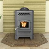 """United States Stove Company King Wood Pellets Stove in Gray, Size 30""""H X 19""""W X 23""""D 