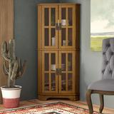 Loon Peak® Chaya Corner Display StandWood in Brown, Size 52.5 H x 23.5 W x 14.0 D in | Wayfair LNPK8443 39564999