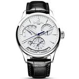 Carlien Unique Design Style Energy Display Automatic Watches Switzerland Brand Watch Luxury Men Watches (Silver&White)