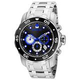 Invicta Men's Pro Diver Stainless Steel Quartz Watch with Stainless-Steel Strap, Silver, 26 (Model: 24848)