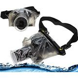 Navitech Black Waterproof Underwater Housing Case/Cover Pouch Dry Bag Compatible with The Sony FDR-AX33 4K Handycam Camcorder/Panasonic dmc-gx7 / Panasonic dmc-gx8 / Panasonic hc-wx979 4k