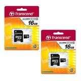 Samsung ST72 Digital Camera Memory Card 2 x 16GB microSDHC Memory Card with SD Adapter (2 Pack)