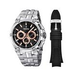 Festina Chrono Bike 2016 Men's Quartz Watch with Black Colour Dial Chronograph Display and Stainless Steel Bracelet F16971/6