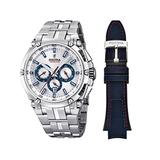 Festina Chrono Bike 2016 Men's Quartz Watch with Silver Colour Dial Chronograph Display and Stainless Steel Bracelet F16971/1