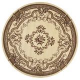 Astoria Grand Barwin Oriental Ivory Area Rug in Brown/White, Size 91.0 W x 0.5 D in | Wayfair ATGD2215 38378201