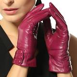 Warmen Women's Touchscreen Texting Driving Winter Warm Nappa Leather Gloves - 8 (US Standard size) - Violet (Touchscreen Function/cashmere Lining)