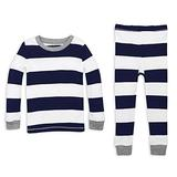Burt's Bees Baby Unisex Little Kid Pajamas, Tee and Pant 2-Piece PJ Set, 100% Organic Cotton ,4T