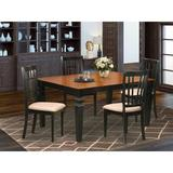 Darby Home Co Bellagio 5 - Piece Butterfly Leaf Solid Wood Dining Set Wood/Upholstered Chairs in Black, Size 30.0 H in | Wayfair DABY5567 39638879