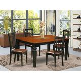 Darby Home Co Bellagio 5 - Piece Butterfly Leaf Solid Wood Dining Set Wood/Upholstered Chairs in Black, Size 30.0 H in | Wayfair DABY5874 39697372