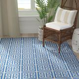 Breakwater Bay Royalton Hand Woven Cotton Blue/Ivory Rug Cotton in White, Size 60.0 H x 36.0 W x 0.25 D in | Wayfair BRWT8364 36982284