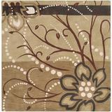 Winston Porter Hayden Hand Tufted Wool Multi-Color Rug Wool in Brown, Size 72.0 H x 72.0 W x 0.63 D in | Wayfair WNPR4272 39842538
