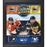 """""""2017 NHL Stadium Series Philadelphia Flyers vs. Pittsburgh Penguins Framed 15"""""""" x 17"""""""" Match-Up Collage with Pieces of Game-Used Puck - Limited Edition 250"""""""