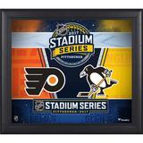 """2017 NHL Stadium Series Philadelphia Flyers vs. Pittsburgh Penguins Framed 15"""" x 17"""" Match-Up Collage"""