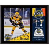"""""""Jake Guentzel Pittsburgh Penguins 12"""""""" x 15"""""""" 2017 Stadium Series Sublimated Plaque with Game-Used Ice - Limited Edition of 199"""""""
